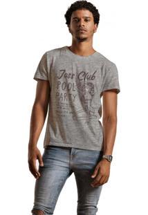Camiseta Masculina Joss Club Pool Cinza