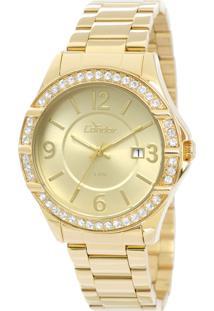 786e735603d ... Relógio Feminino Condor Analógico Com Cristais Swarovski Co2115Tm 4X  Dourado