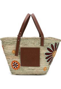 Loewe Bolsa 'Basket Flowers Large' - Neutro