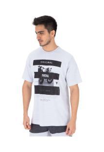 Camiseta Fatal Estampada 22123 - Masculina - Cinza Claro