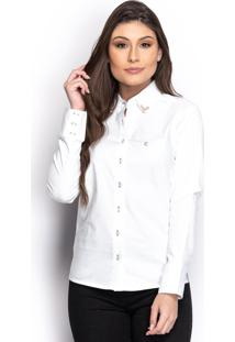 Camisa Camisete Social Feminina Manga Longa Lisa Casual