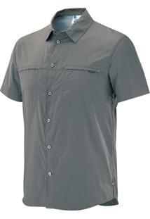 Camisa Stretch Masculina Cinza Egg - Salomon