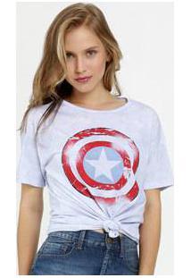 Blusa Feminina Tie Dye Estampa Capitão América Marvel
