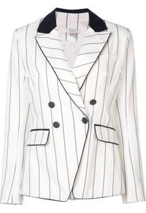 Jonathan Simkhai Striped Blazer - Branco