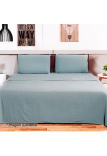 Jogo De Cama Loft King Size- Azul Claro- 4Pã§S- 1Camesa