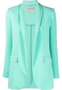 Blanca Vita Single-Breasted Suit Jacket - Azul
