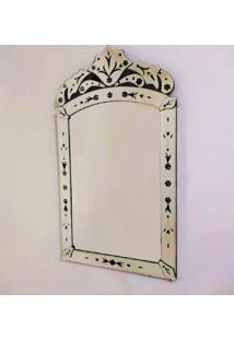 Espelho Veneziano Decorativo, Sala, Indiano Pequeno Plus Preto 50X90