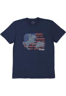Camiseta Estampada Wrangler Azul