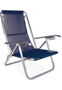 Cadeira Reclinável 5 Posições Alumínio Plus Azul