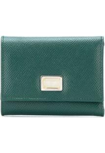 Dolce & Gabbana Carteira Dauphine Com Placa De Logo - Verde