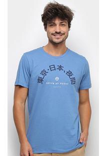 Camiseta Colcci Estampada Manga Curta Masculina - Masculino-Azul Escuro