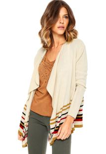 Cardigan Volcom Mixed Direction Bege