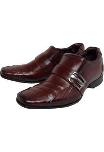 Sapato Social Couro Rafarillo Recortes Marrom