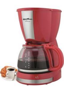 Cafeteira Elétrica Britânia Cp30 Inox Até 30 Cafés - Vermelha