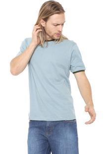 Camiseta Fiveblu Manga Curta Lisa Azul/Verde