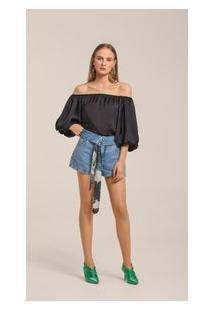 Shorts Trend Bolso Relogio Jeans 36