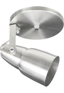 Spot 1040 Alumínio Escovado 1 Lâmpada Pavilonis