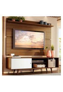 Rack Madesa Dubai E Painel Para Tv Até 65 Polegadas Com Pés - Rustic/Branco 6E5Z Marrom