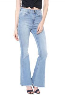 Calça Jeans Carmim Flare Old Town Azul