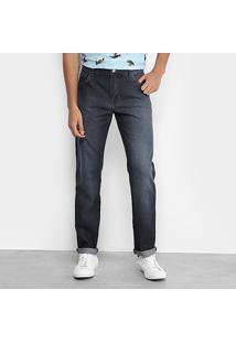 Calça Jeans Skinny Coca-Cola Estonada Masculina - Masculino-Marinho