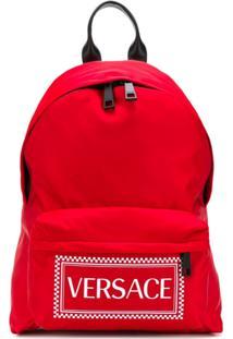 Versace Logo Backpack - Vermelho