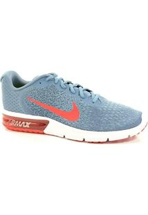 Tenis Air Max Sequent 2 Nike Jeans Vermelho - 852461-403