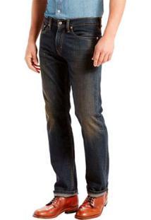 Calça Jeans Levis 505 Regular Escura Masculina - Masculino-Preto