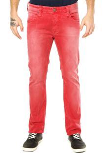 Calça Sarja Colcci Felipe Skinny Style Vermelha
