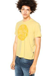 Camiseta Cavalera Estampas Amarela