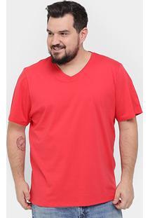 Camiseta Kohmar Plus Size Gola V Básica Masculina - Masculino