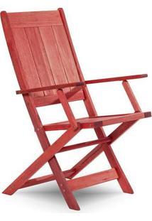 Cadeira Dobrável Com Braço Acqualung Vermelho Mão E Formão