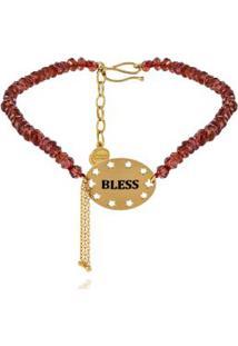 Pulseira Wishes Bless Amarelo Com Contas Facetadas - U