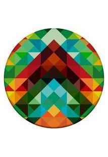 Tapete Love Decor Redondo Wevans Triângulos Abstrato Color Multicolorido 84Cm