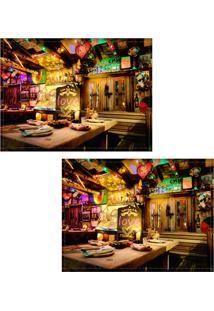 Jogo Americano Colours Creative Photo Decor - Bar Na Colômbia - 2 Peças