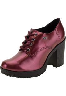 Sapato Feminino Oxford Via Marte - 203707 Vinho 34