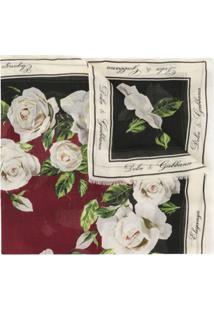 Dolce & Gabbana Echarpe Com Estampa De Rosas - Vermelho