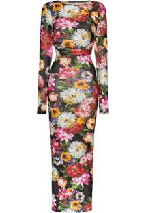 Dolce & Gabbana Vestido Com Estampa Floral - Hnt62 Fiori Fdo Nero