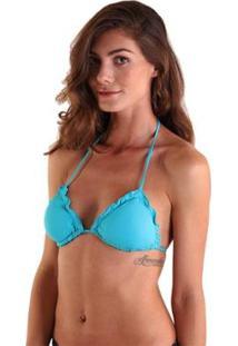 9f2aea060405 ... Top Líquido Biquíni Fru-Fru Feminino - Feminino-Azul Turquesa