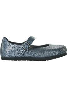 Sapato Boneca Mantova Em Couro- Azul & Pretobirkenstock