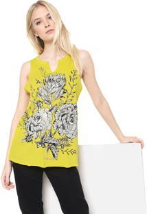 Regata Colcci Floral Amarela