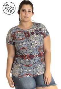 Blusa Konciny Viscose Plus Size Bege
