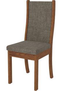 Cadeira Malta 2 Peças - Rústico Terrara Com Linho Bronze