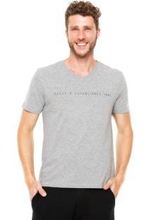 Camiseta Guess Reta Cinza