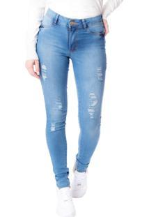 Calça Jeans Feminina Tm Denim Skinny Azul - 36