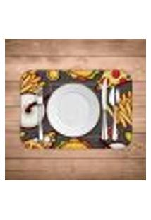 Jogo Americano Wevans Fast Food Kit Com 4 Pçs