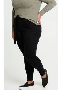 Calça Feminina Sarja Clochard Plus Size