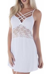 Camisola Strappy Em Liganete - Feminino-Branco