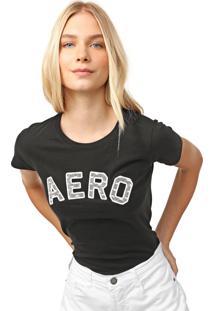 Camiseta Aeropostale Renda Preta