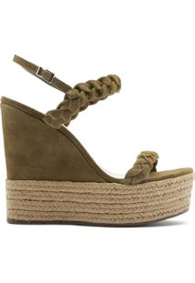 Sandália Anabela Braid Rope Green | Schutz