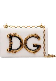 Dolce & Gabbana Bolsa Tiracolo Dg Girls Com Logo - Branco